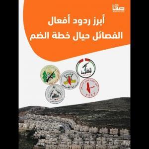 أبرز ردود الفصائل الفلسطينية حيال خطة الضم الإسرائيلية