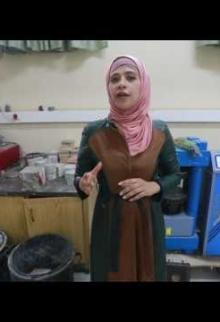 طالبات بغزة يُنتتجن بلاستر أسمنت بقوة مضاعفة