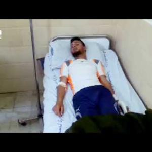 تشنجات تظهر على مصابين بقنابل غاز أطلقها الاحتلال في مسيرة العودة