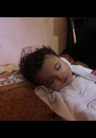 وداع حزين للطفلة الشهيدة ليلى الغندور
