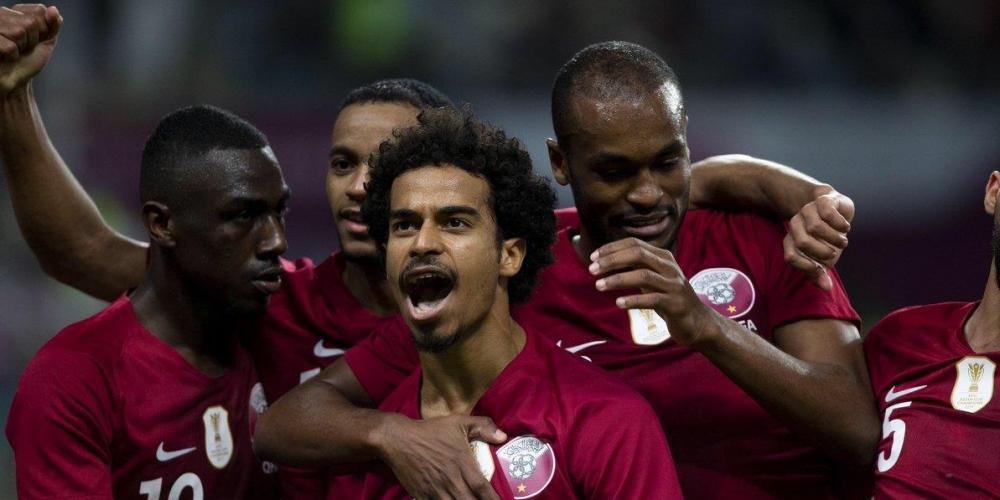 فرحة لاعبي منتخب قطر