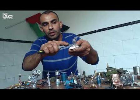 فنان يُحوّل الرصاص الإسرائيلي بغزة إلى مجسمات للمقاومة والعودة