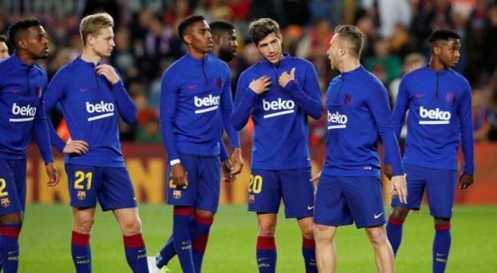 جانب من تدريب سابق لبرشلونة