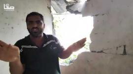 أضرار بمنزل إثر قصف إسرائيلي مجاور لمنزلهم شرق بيت حانون شمالي قطاع غزة