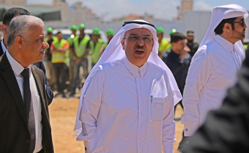 وكالة الصحافة الفلسطينية - العمادي يصل غزة
