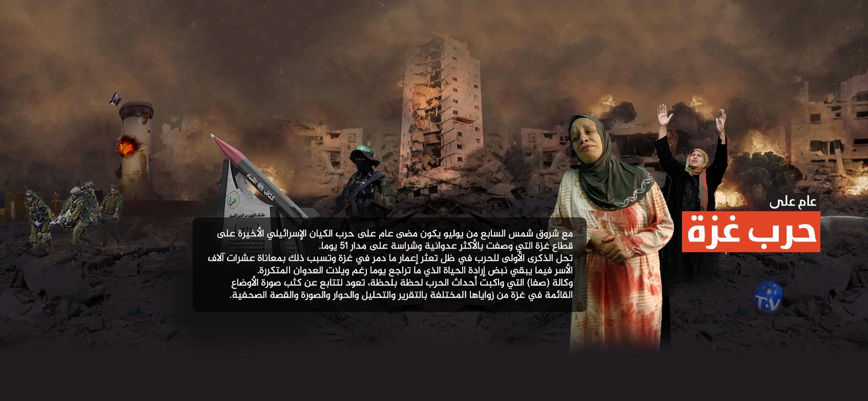 عام على حرب غزة ٢٠١٤
