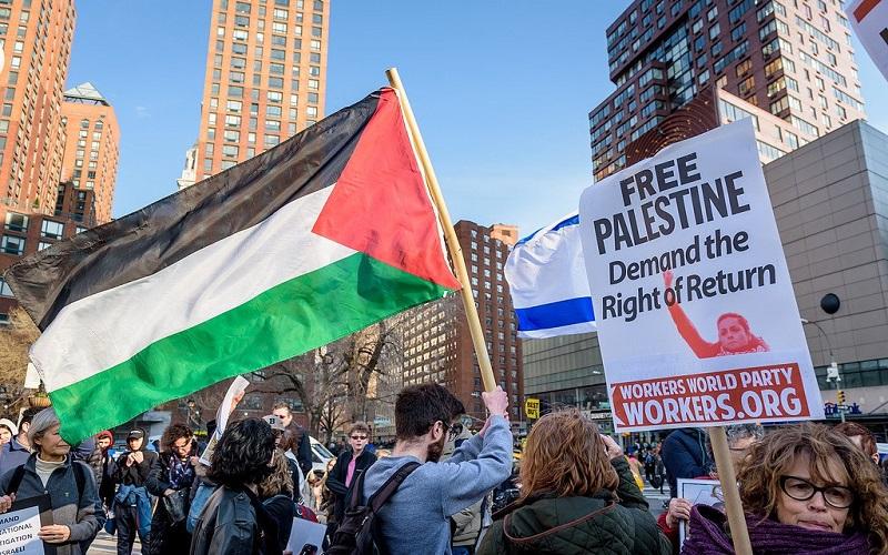 نيويورك:تظاهرة فى ميدان التايمز لدعم مسيرات